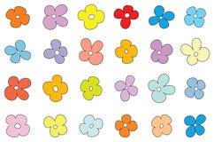 Eenvoudig bloempatroon Royalty-vrije Stock Fotografie