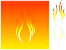 Eenvoudig brandpictogram Stock Foto's