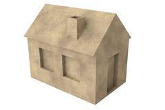 Eenvoudig 3D Huis Royalty-vrije Stock Afbeelding