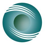 Eenvoudig 3D Logo Circle Blue Stock Afbeelding