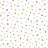 Eenvoudig de puntpatroon van de babypastelkleur Abstracte naadloze achtergrond Stock Afbeelding