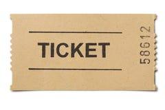 Eenvoudig document geïsoleerd kaartje royalty-vrije stock foto