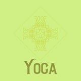 Eenvoudig embleem met abstract krullend symbool voor yogastudio of yogainstructeur Bedrijf Logo Design Vector Stock Foto
