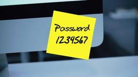 Eenvoudig, gemakkelijk wachtwoord qwerty De veiligheid van de computer Rekening het binnendringen in een beveiligd computersystee royalty-vrije illustratie