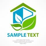 Eenvoudig gestileerd pictogram van plattelandshuisje Stock Foto