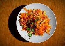 Eenvoudig gezond diner, deegwaren royalty-vrije stock afbeelding