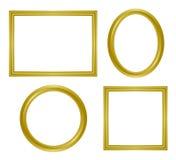 Eenvoudig gouden frame Stock Foto's