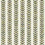 Eenvoudig groen blad naadloos patroon Hand getrokken natuurlijke achtergrond Stock Afbeelding