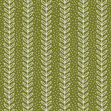 Eenvoudig groen blad naadloos patroon, vectorillustratie Royalty-vrije Stock Foto's