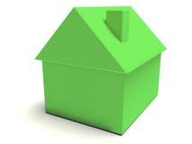 Eenvoudig Groen Huis Royalty-vrije Stock Foto's