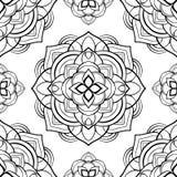 Eenvoudig harmonisch patroon van mandalas vector illustratie