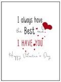 Eenvoudig heb ik u Valentine Card stock afbeelding