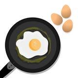 Eenvoudig heerlijk met eieren royalty-vrije illustratie