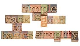 Eenvoudig is het goede concept stock foto