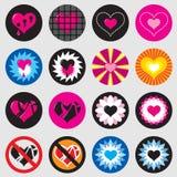 Eenvoudig het hartpictogram van de valentijnskaart/jpg + vector Royalty-vrije Stock Foto's