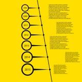 Eenvoudig het ontwerpmalplaatje van de tijdlijn Royalty-vrije Stock Fotografie