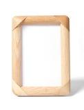 Eenvoudig houten fotoframe Royalty-vrije Stock Afbeeldingen