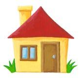 Eenvoudig huis Royalty-vrije Stock Fotografie