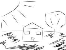 Eenvoudig Huis Stock Afbeeldingen