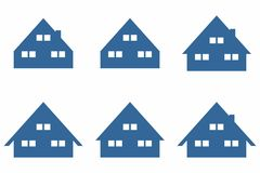 Eenvoudig Huis/Huissymbool Stock Foto