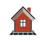 Eenvoudig huispictogram voor grafisch ontwerp, herenhuis conceptueel symbool vector illustratie