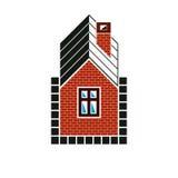 Eenvoudig huispictogram voor grafisch ontwerp, herenhuis conceptueel symbool royalty-vrije illustratie