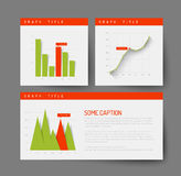 Eenvoudig infographic dashboardmalplaatje Royalty-vrije Stock Fotografie