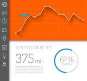 Eenvoudig infographic dashboardmalplaatje Stock Foto