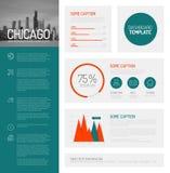 Eenvoudig infographic dashboardmalplaatje Stock Fotografie