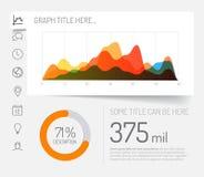 Eenvoudig infographic dashboardmalplaatje Stock Afbeelding