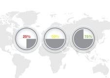 Eenvoudig informatie grafisch vectorontwerp Royalty-vrije Stock Fotografie