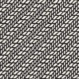 Eenvoudig inkt geometrisch patroon Zwart-wit zwart-witte slagenachtergrond Hand getrokken inkttextuur voor uw designr Royalty-vrije Stock Fotografie