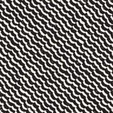 Eenvoudig inkt geometrisch patroon Zwart-wit zwart-witte slagenachtergrond Hand getrokken inkttextuur voor uw designr Stock Foto's