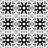 Eenvoudig kant met netwerk en bloemen Stock Foto