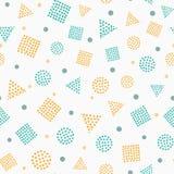 Eenvoudig kleuren geometrisch naadloos patroon royalty-vrije illustratie