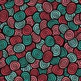 Eenvoudig krabbel naadloos patroon, vectorillustratie Royalty-vrije Stock Fotografie