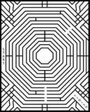 Eenvoudig labyrint Royalty-vrije Stock Foto
