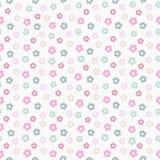 Eenvoudig leuk pastelkleur bloemenpatroon Stock Afbeelding