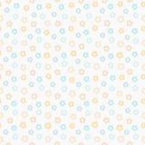 Eenvoudig leuk pastelkleurpatroon De bloemenachtergrond van munt naadloze jonge geitjes Stock Fotografie