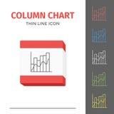 Eenvoudig lijn gestreken grafiek of grafiek vectorpictogram Royalty-vrije Stock Foto's