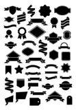 Eenvoudig Lint en Etiket vector illustratie