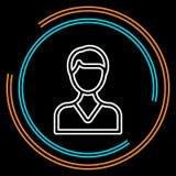 Eenvoudig Mannelijk Avatar Dun Lijn Vectorpictogram vector illustratie