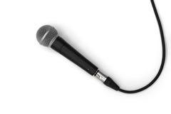Eenvoudig Microfoon op witte achtergrond Royalty-vrije Stock Afbeeldingen
