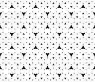 Eenvoudig minimalistisch naadloos zwart-wit patroon, Stock Fotografie