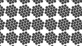 Eenvoudig Modern abstract groot en klein zwart hexagon patroon vector illustratie