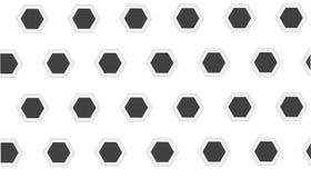 Eenvoudig Modern abstract modern zwart-wit hexagon patroon Royalty-vrije Stock Afbeelding