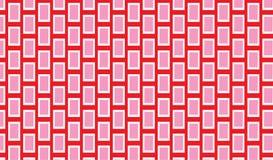 Eenvoudig Modern abstract rood en roze schalen stammenpatroon stock illustratie