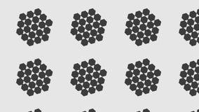 Eenvoudig Modern abstract zwart-wit klein groot hexagon patroon vector illustratie