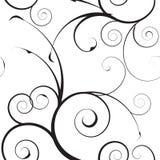 Eenvoudig mono bloemenpatroon Royalty-vrije Stock Afbeeldingen