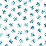 Eenvoudig naadloos bloemenpatroon stock illustratie
